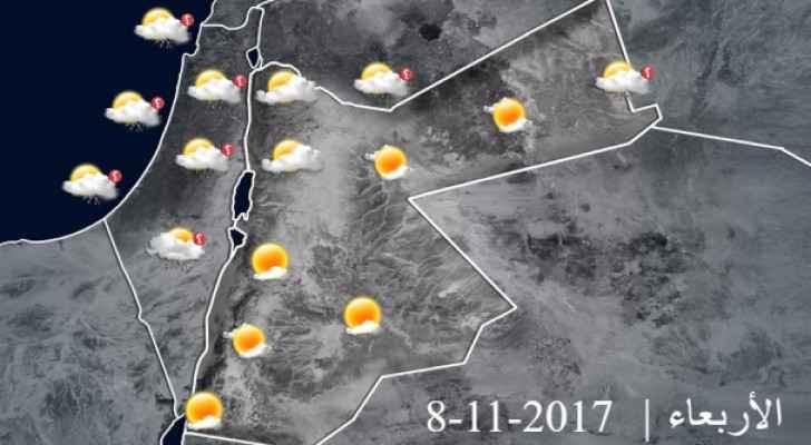 انخفاض على درجات الحرارة وتكاثر السحب تدريجياً الاربعاء
