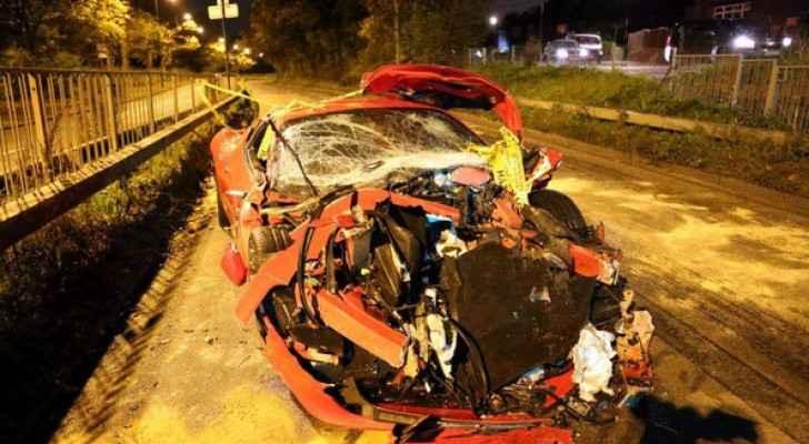 حالة السيارة بعد الحادث