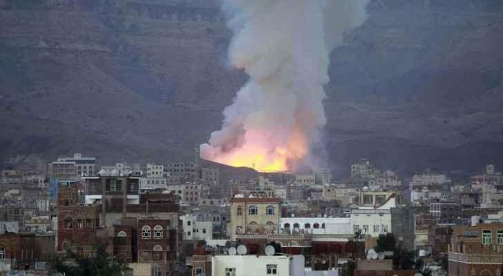 غارة للتحالف على مواقع للحوثيين في صنعاء