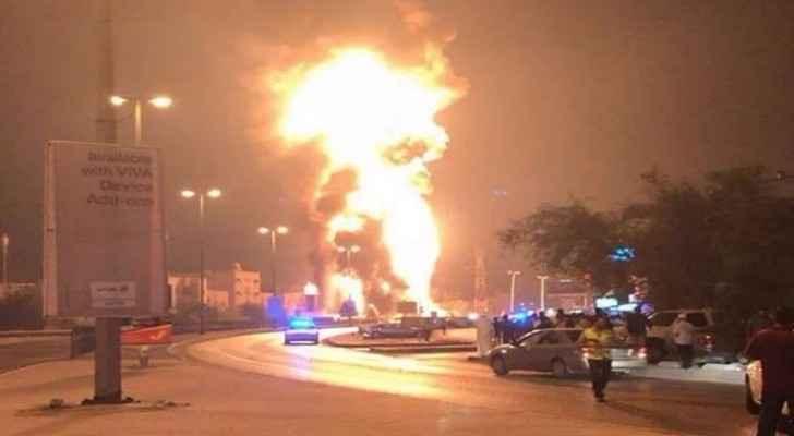 انفجار خط انابيب في البحرين