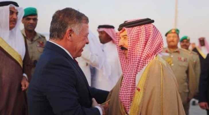 جانب من زيارة الملك الى البحرين