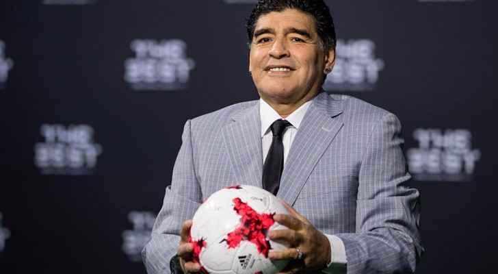 أسطورة كرة القدم الارجنتينية دييغو مارادونا