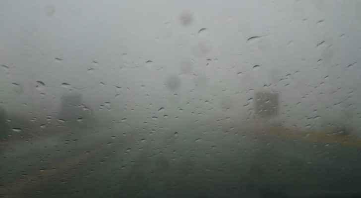 الأمطار في العاصمة عمان
