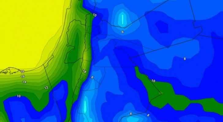 الجمعة اجواء باردة وحالة من عدم الاستقرار الجوي جنوبا وشرقا