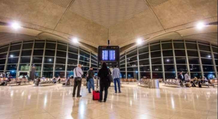 المسافرين في مطار الملكة علياء الدولي