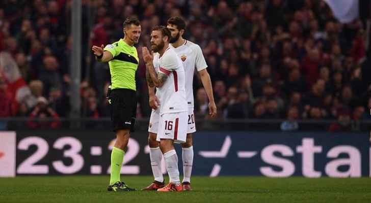 ايقاف دي روسي مباراتين في الدوري الإيطالي