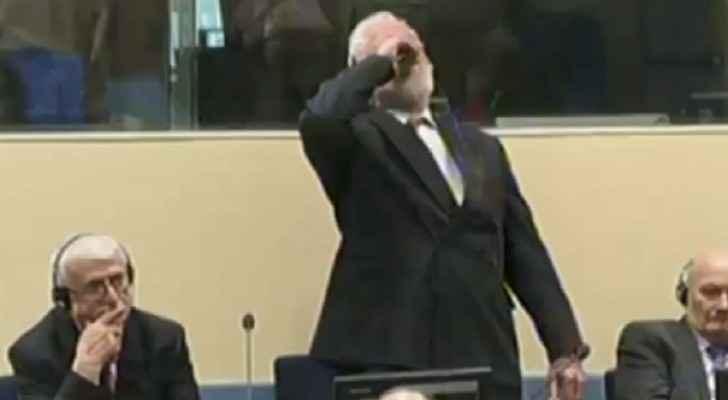 وفي القائد العسكري السابق لكروات البوسنة سولوبودان برالياك الأربعاء بعد تجرعه السم