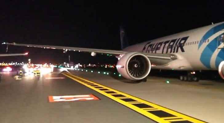 اصطدام بين طائرتين مصرية وإنجليزية بمطار أميركي