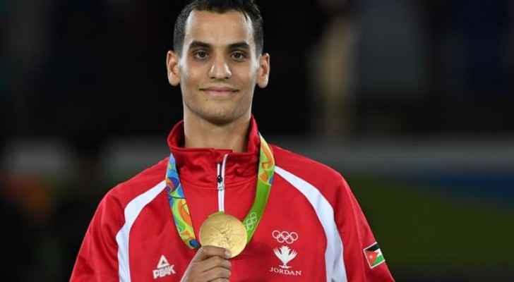 البطل الأولمبي أحمد أبو غوش