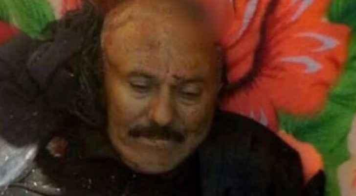 صورة نشرها الحوثيون لجثة صالح