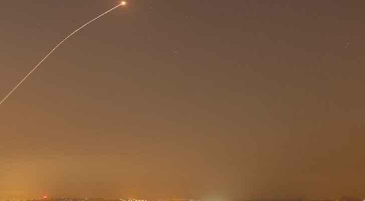 من عملية اطلاق الصواريخ