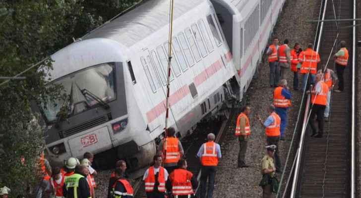 أرشيفية لحادث قطار سابق في ولاية بافاريا عام 2007.