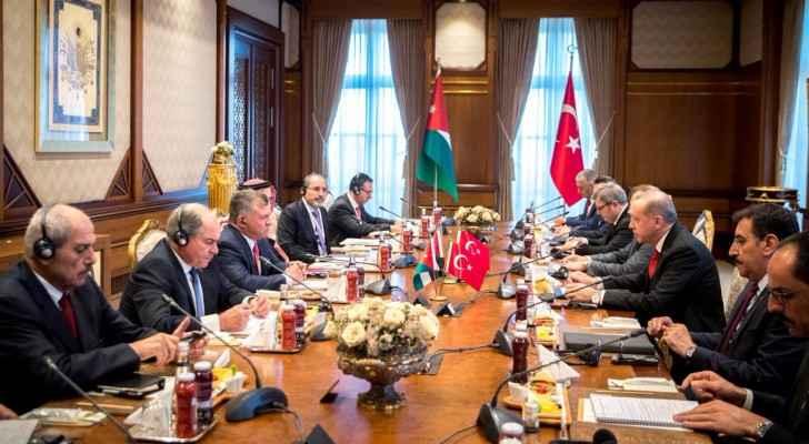 جانب من المباحثات الأردنية التركية في أنقرة