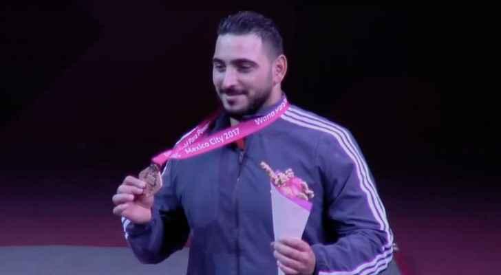 خطاب يحصد برونزية بطولة العالم البارالمبية لرفع الأثقال