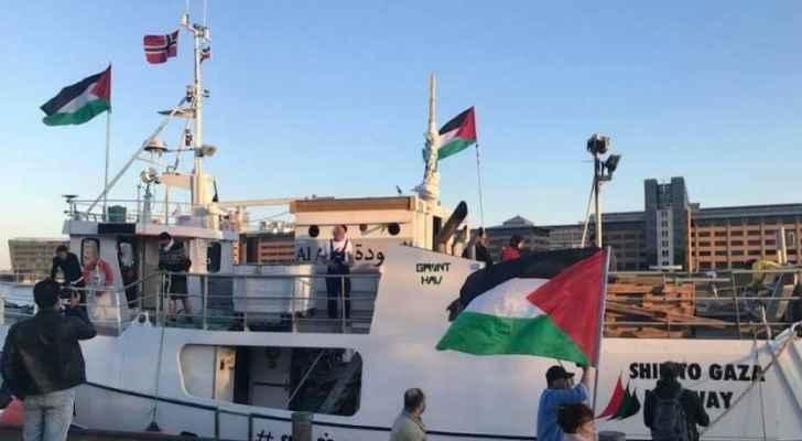 رؤيا الإخباري   أسطول  كسر الحصار  ينطلق إلى غزة