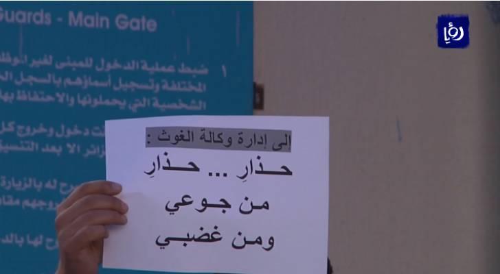موظفو الأونروا ينهون اضرابهم بعد اتفاق مع لجنة فلسطين النيابية بحل مطالبهم