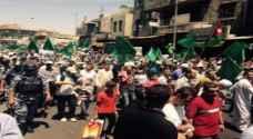 """المئات يشاركون في """"جمعة الغضب"""" وسط عمان .. صور"""