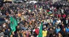 بالصور : مسيرة في وسط البلد نصرة للمسجد الاقصى