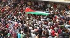مسيرة في الزرقاء نصرة للشعب الفلسطيني
