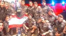 لبنان تفوز بالمركز الأول في مسابقة المحارب الدولية الثامنة وفلسطين ثانيا