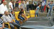 بالكراسي: تجار يغلقون شارع ايدون في اربد .. صور