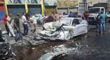 عمان: 5 اصابات في حادث تصادم بمنطقة وادي الرمم ..صور