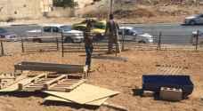 ازالة مواقع البيع العشوائي للاضاحي في عمان .. صور