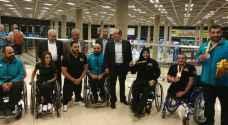 استقبال رسمي لوفد المنتخب الوطني المشارك بدورة الالعاب الباراولمبية