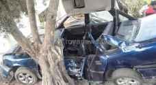 وفاة ثلاثيني في حادث سير باربد ..صور
