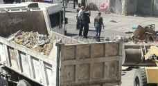بلدية اربد تزيل بسطات عشوائية في مجمع بيت راس