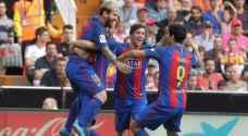 برشلونة يهزم فالنسيا بركلة جزاء قاتلة
