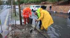 الأمانة مناهل تصريف مياه الأمطار جاهزة