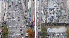 إصلاح شارع في اليابان يدهش العالم .. فيديو وصور