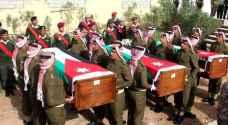 دفن رفات ثلاثة شهداء من الجيش العربي نقلوا من القدس..صور