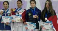 'الحميدي' تظفر بالميدالية البرونزية في بطولة كازاخستان للتايكواندو