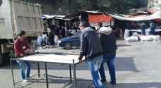 إزالة ١٠٠ بسطة من شوارع اربد