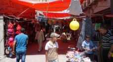 الكرك تتزين للعيد والسماح لباعة البسطات العمل في الساحات