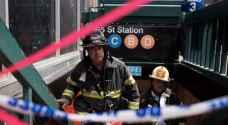 ٣٦ إصابة بخروج قطار عن سكته في نيويورك