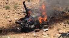 فيديو .. احتراق طائرة استطلاع تابعة لسلاح الجو بعد سقوطها بالمفرق