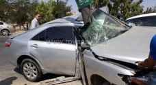 ٥ إصابات بحادث مروع في عمان..صور