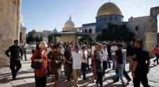 ١٤٠ مستوطنا متطرفا يقتحمون المسجد الاقصى