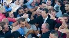 الأسد يصلي العيد بريف دمشق بعد انتصارات الجيش السوري