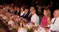 الملكة رانيا تحضر الحفل الخيري لمؤسسة الحسين للسرطان