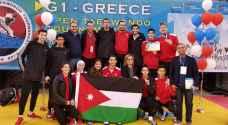 المنتخب الوطني يحتل المركز الاول في بطولة اليونان للتايكواندو