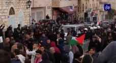 شاهد بالفيديو.. كيف أستقبل الفلسطينيون موكب البطريرك ثيوفيلوس