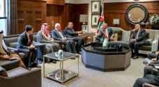 الملك يبلغ الوفد الوزاري العربي بعمّان أهمية دعم صمود المقدسيين