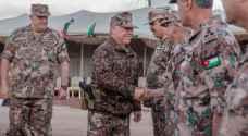 الملك يزور المنطقة العسكرية الشمالية