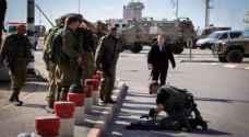 إصابة جندي من الاحتلال بحادثة دهس قرب أريحا
