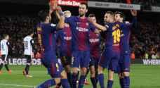 برشلونة يحسم موقعة الذهاب أمام فالنسيا في كأس الملك