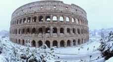عاصفة ثلجية عنيفة تشل الحركة في روما